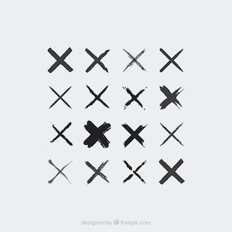 Coleção de ícones cruzados