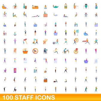 Coleção de ícones da equipe isolada no branco
