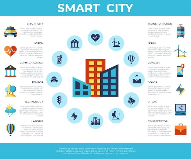 Coleção de ícones de cidade inteligente