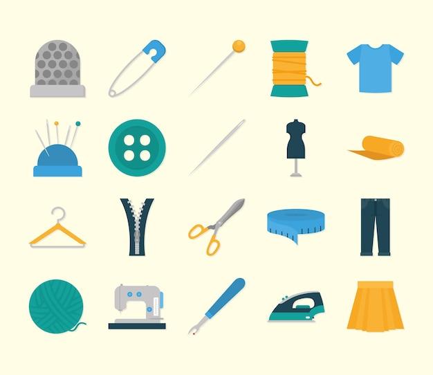 Coleção de ícones de costura