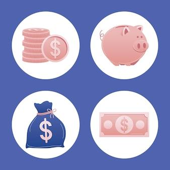 Coleção de ícones de dinheiro