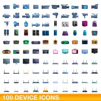 Coleção de ícones de dispositivos isolados no branco