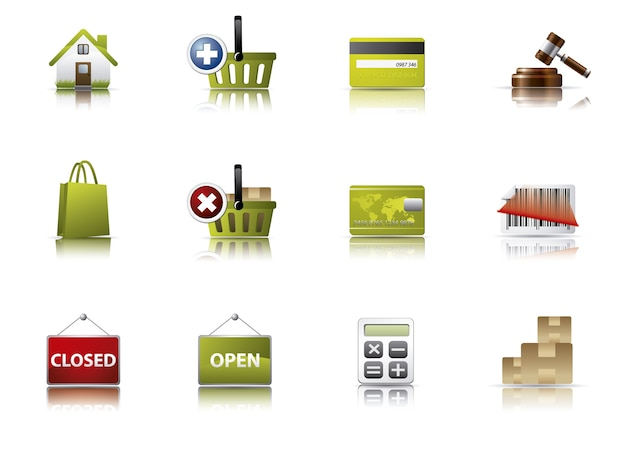 Coleção de ícones de e-comerce