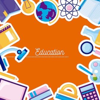 Coleção de ícones de educação