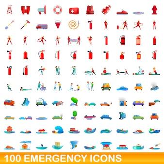 Coleção de ícones de emergência isolados no branco