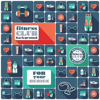 Coleção de ícones de fitness
