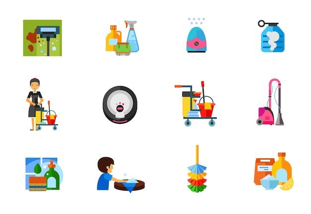 Coleção de ícones de limpeza
