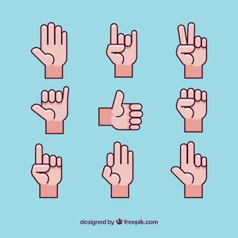 Coleção de ícones de língua gestual