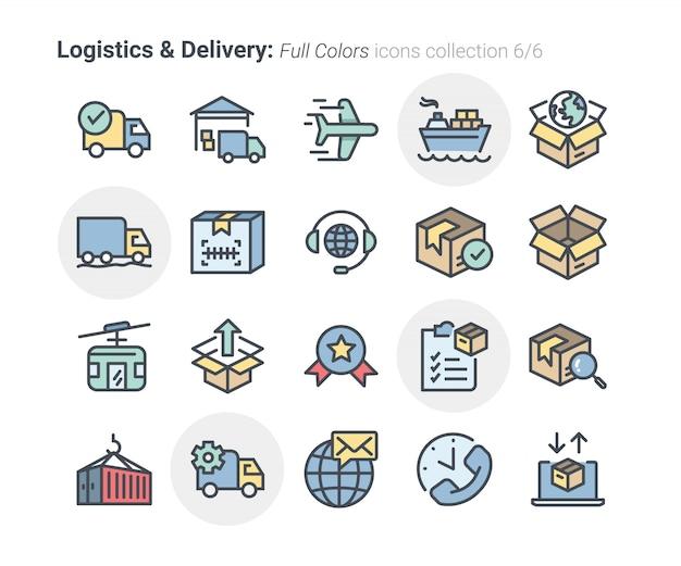 Coleção de ícones de logística e entrega 6