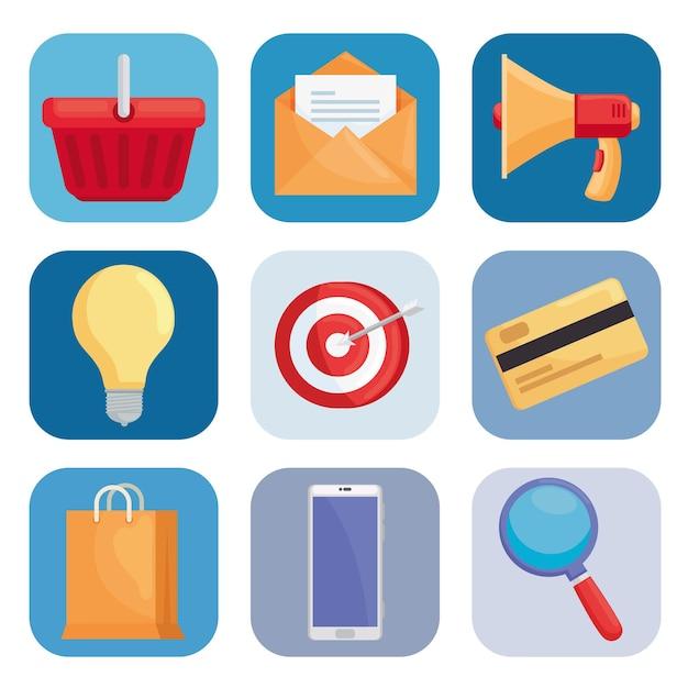 Coleção de ícones de marketing