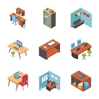 Coleção de ícones de mesas de trabalho