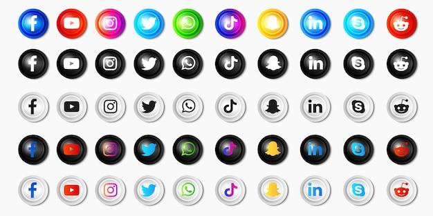 Coleção de ícones de mídia social