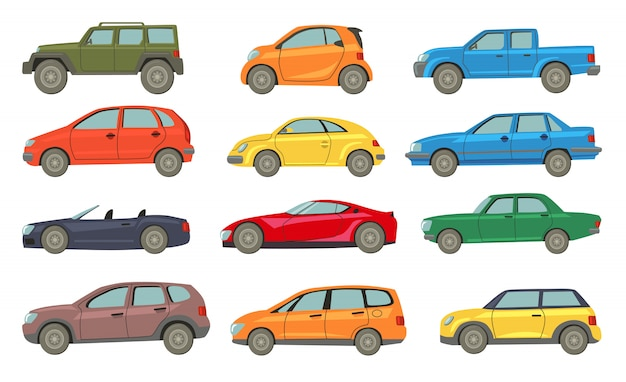 Coleção de ícones de modelos de automóveis