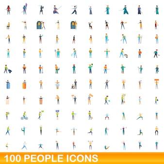 Coleção de ícones de pessoas isolado no branco