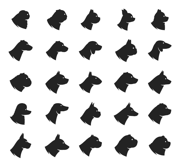 Coleção de ícones de raças de cães