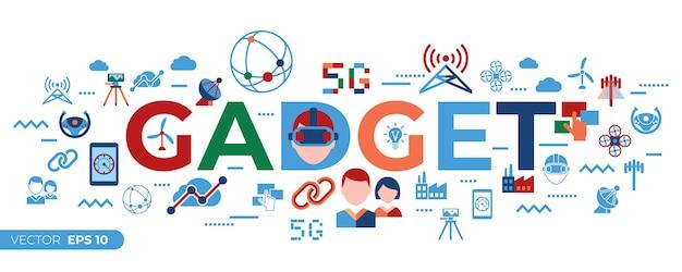 Coleção de ícones de rede e tecnologia móvel 5g