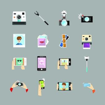 Coleção de ícones de selfie