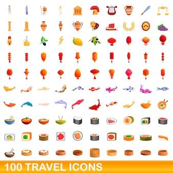 Coleção de ícones de viagens isolados no branco