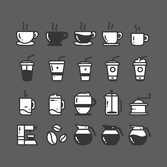 Coleção de ícones do café