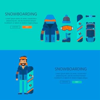 Coleção de ícones do esporte de inverno. esqui e snowboard conjunto equipamento isolado no fundo branco no design de estilo simples. elementos para imagens de estação de esqui, atividades de montanha, ilustração vetorial.