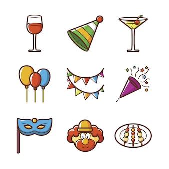 Coleção de ícones do party