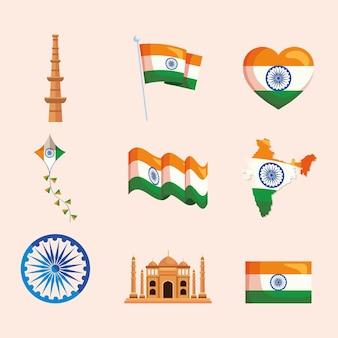 Coleção de ícones indianos