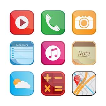 Coleção de ícones móveis