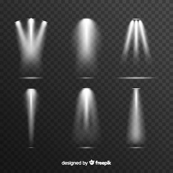Coleção de iluminação cena realista