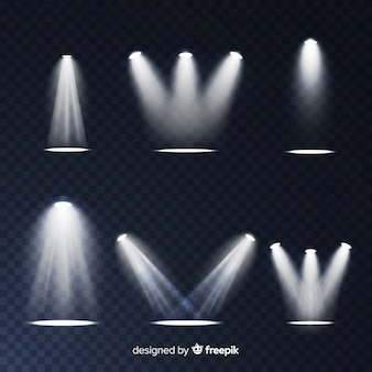 Coleção de iluminação de cena realista