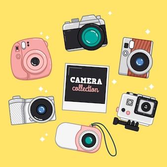 Coleção de ilustração da câmera