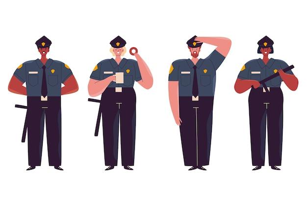 Coleção de ilustração da polícia