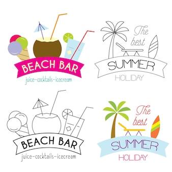 Coleção de ilustração de férias de verão