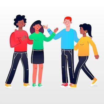 Coleção de ilustração de grupo de pessoas