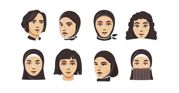Coleção de ilustração de mulher