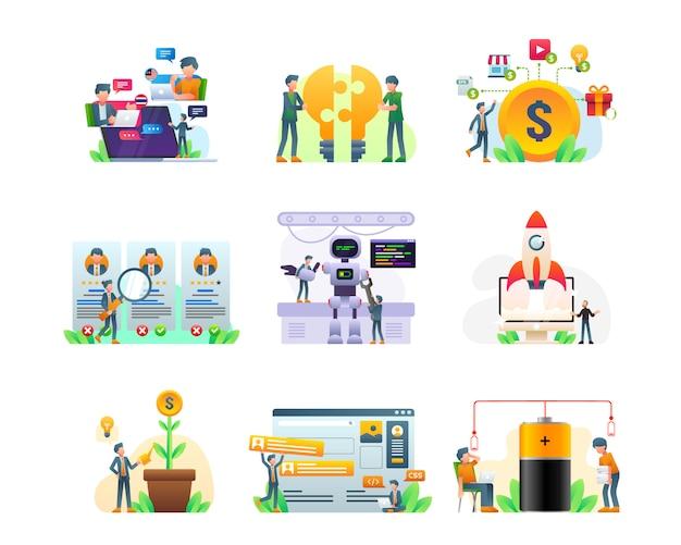 Coleção de ilustração de negócios e finanças