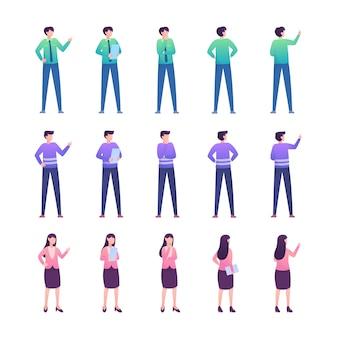 Coleção de ilustração de pessoas plana moderna