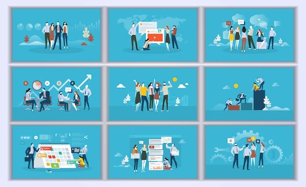Coleção de ilustração design plano