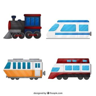 Coleção de ilustração do trem