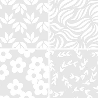 Coleção de ilustração vetorial de padrão simples