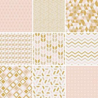 Coleção de ilustração vetorial de padrões