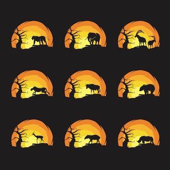 Coleção de ilustrações da vida selvagem