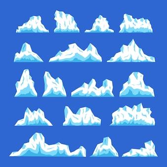 Coleção de ilustrações de iceberg