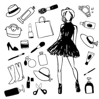 Coleção de ilustrações de moda