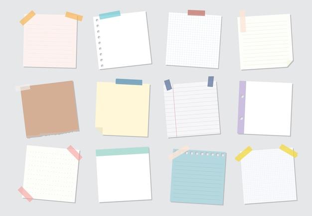 Coleção de ilustrações de nota auto-adesiva