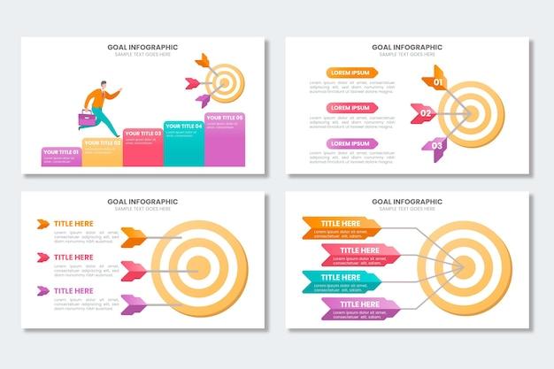 Coleção de infográfico de metas