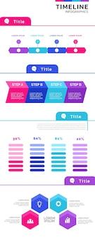 Coleção de infográfico de negócios