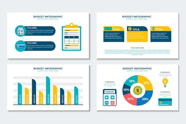Coleção de infográfico de orçamento