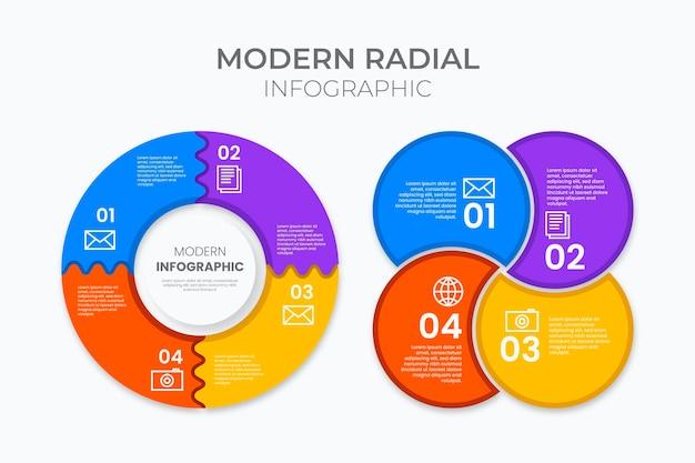 Coleção de infográfico design plano