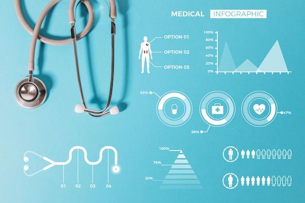Coleção de infográfico médica