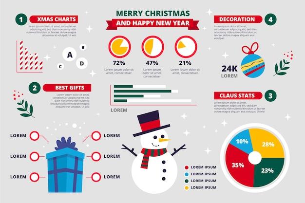Coleção de infográficos de natal